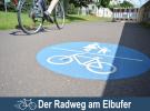 Der Radweg am Elbufer